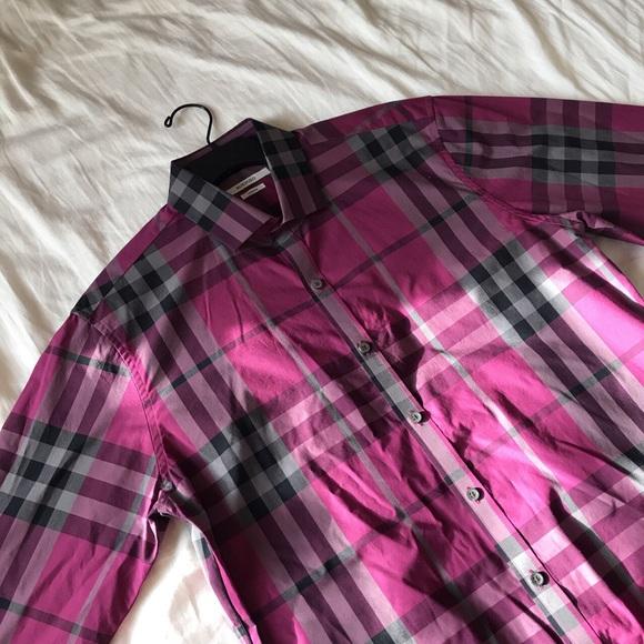 Other - ROXFORD MAGENTA PLAID DRESS SHIRT BUTTON-DOWN